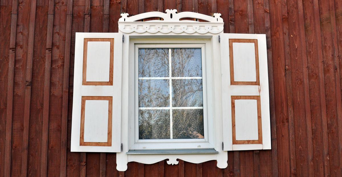 papuoštas langas Grabijoluose