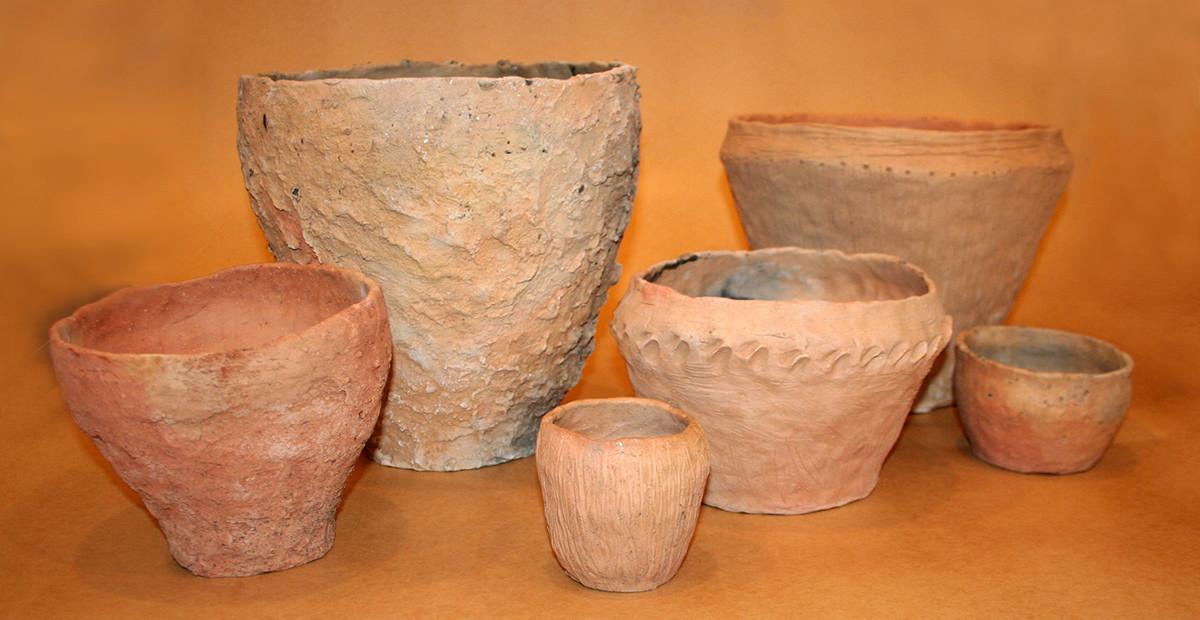 Taip atrodė nesudužę lipdytos keramikos puodai