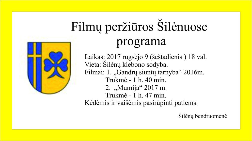 Silenu programa 2017